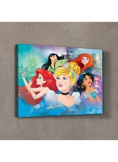 Disney Prensesler-3 30x40 cm Kanvas Tablo Renkli
